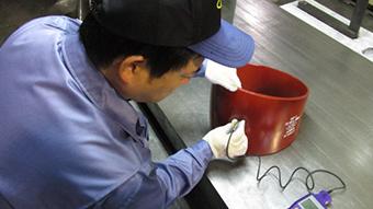 膜厚測定作業
